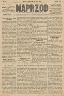 Naprzód : organ centralny polskiej partyi socyalno-demokratycznej. 1908, nr75
