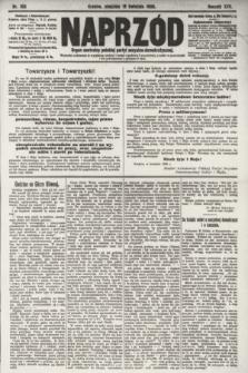 Naprzód : organ centralny polskiej partyi socyalno-demokratycznej. 1908, nr109