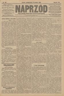 Naprzód : organ centralny polskiej partyi socyalno-demokratycznej. 1908, nr165 [nakład pierwszy skonfiskowany]