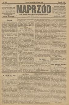 Naprzód : organ centralny polskiej partyi socyalno-demokratycznej. 1908, nr202