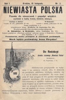 Niewiasta Polska. 1899, nr2