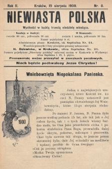 Niewiasta Polska. 1900, nr8
