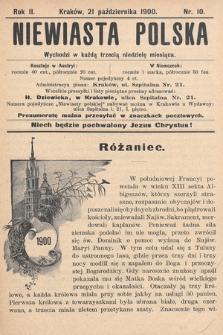 Niewiasta Polska. 1900, nr10