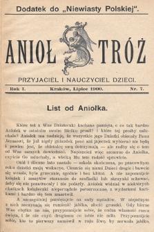 Anioł Stróż : przyjaciel i nauczyciel dzieci. 1900, nr7