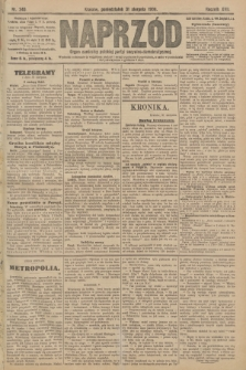 Naprzód : organ centralny polskiej partyi socyalno-demokratycznej. 1908, nr240