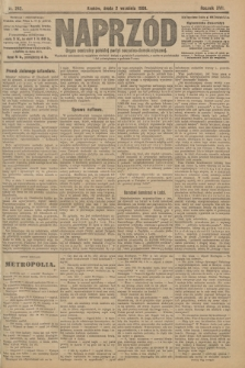 Naprzód : organ centralny polskiej partyi socyalno-demokratycznej. 1908, nr242