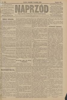 Naprzód : organ centralny polskiej partyi socyalno-demokratycznej. 1908, nr243
