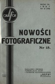 Nowości Fotograficzne. 1937, nr2(18)