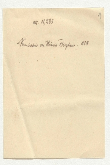 Listy do Heinricha Berghausa [całość]