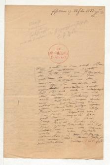 Brief von Alexander von Humboldt an Heinrich Karl Wilhelm Berghaus