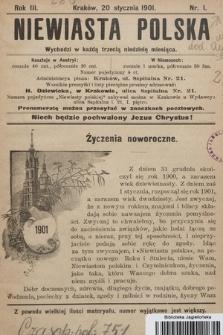Niewiasta Polska. 1901, nr1