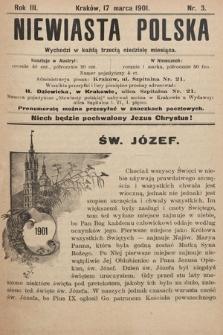 Niewiasta Polska. 1901, nr3