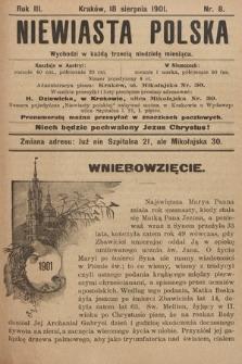 Niewiasta Polska. 1901, nr8