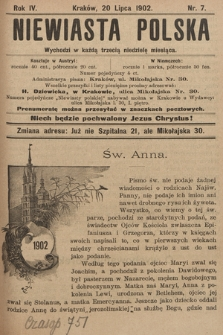 Niewiasta Polska. 1902, nr7