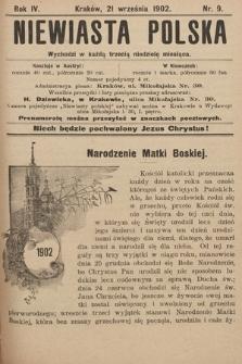 Niewiasta Polska. 1902, nr9