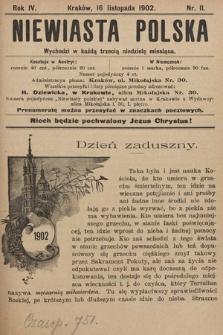 Niewiasta Polska. 1902, nr11