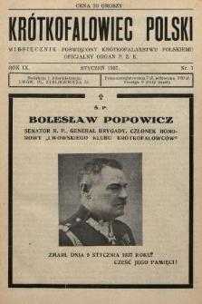 Krótkofalowiec Polski : miesięcznik poświęcony krótkofalarstwu polskiemu : oficjalny organ P.Z.K. 1937, nr1