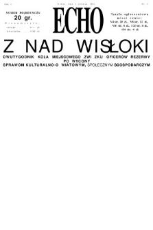 Echo z nad Wisłoki : dwutygodnik Koła Miejscowego Związku Oficerów Rezerwy poświęcony sprawom kulturalno-oświatowym, społecznym, gospodarczym. 1932, nr3