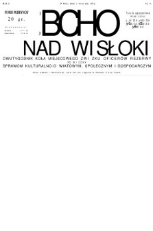 Echo z nad Wisłoki : dwutygodnik Koła Miejscowego Związku Oficerów Rezerwy poświęcony sprawom kulturalno-oświatowym, społecznym, gospodarczym. 1932, nr9