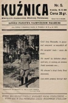 Kuźnica : czasopismo Akademickiej Młodzieży Państwowej. 1931/1932, nr5