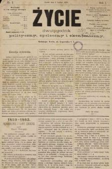 Życie : dwutygodnik polityczny, społeczny i ekonomiczny. 1893, nr2