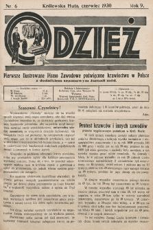 Odzież : pierwsze ilustrowane pismo zawodowe poświęcone krawiectwu w Polsce z dodatkiem sezonowym żurnali Mód : Organ Związku Pracodawców Krawieckich na Polske Zachodnią. 1930, nr6