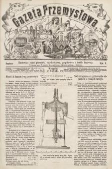 Gazeta Przemysłowa : ilustrowany organ przemysłu, rękodzielnictwa, gospodarstwa i handlu krajowego. 1867, nr79
