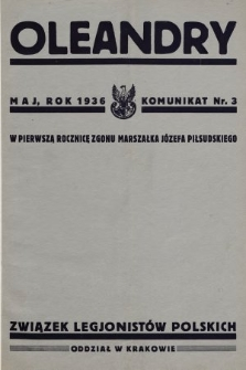 Oleandry : komunikat nr... 1936, nr3