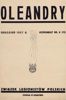 Oleandry : komunikat nr... 1937, nr6