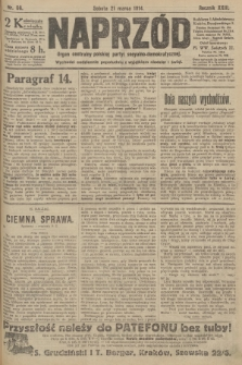 Naprzód : organ centralny polskiej partyi socyalno-demokratycznej. 1914, nr66