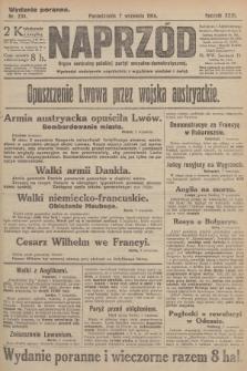 Naprzód : organ centralny polskiej partyi socyalno-demokratycznej. 1914, nr234 (wydanie poranne)