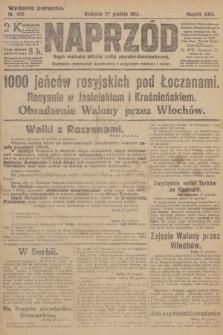 Naprzód : organ centralny polskiej partyi socyalno-demokratycznej. 1914, nr435 (wydanie poranne)