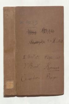 Umschlag der Korrekturbogen der zweiten Hälfte des IV., sowie des V. Bandes des Kosmos (Ansetzungssachtitel von Bearbeiter/in)