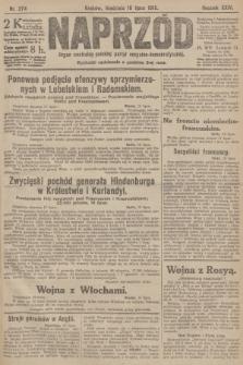 Naprzód : organ centralny polskiej partyi socyalno-demokratycznej. 1915, nr 274