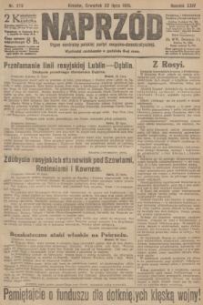 Naprzód : organ centralny polskiej partyi socyalno-demokratycznej. 1915, nr 278