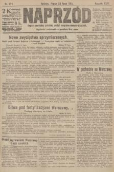 Naprzód : organ centralny polskiej partyi socyalno-demokratycznej. 1915, nr 279