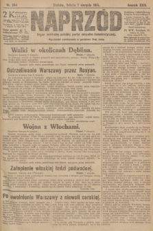 Naprzód : organ centralny polskiej partyi socyalno-demokratycznej. 1915, nr 294