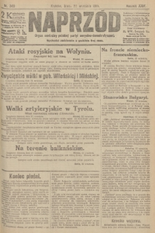 Naprzód : organ centralny polskiej partyi socyalno-demokratycznej. 1915, nr 340