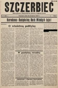 Szczerbiec : narodowo-radykalne pismo tygodniowe. 1934, nr19