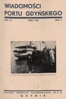 Wiadomości Portu Gdyńskiego. 1933, z.7