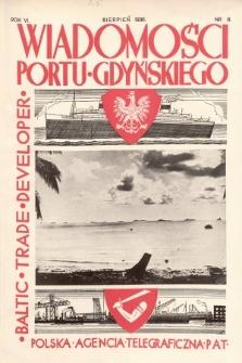 Wiadomości Portu Gdyńskiego. 1936, nr8