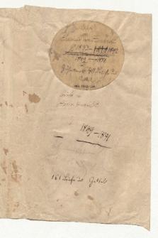 Briefe von Alexander von Humboldt 1849-1851 (Manuskripttitel)