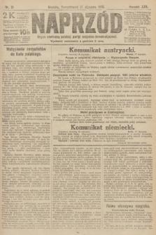 Naprzód : organ centralny polskiej partyi socyalno-demokratycznej. 1916, nr21