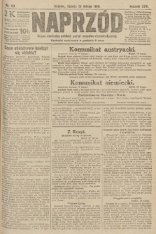 Naprzód : organ centralny polskiej partyi socyalno-demokratycznej. 1916, nr53