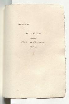 Al. von Humboldts neueste Briefe an Buschmann 1852-58 (Manuskripttitel)