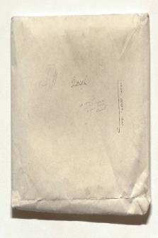 Umschlag der zwei Mappen mit Humboldts Mitschriften der Vorlesungen August Boeckhs über griechische Altertümer und griechische Literaturgeschichte (Ansetzungssachtitel von Bearbeiter/in)