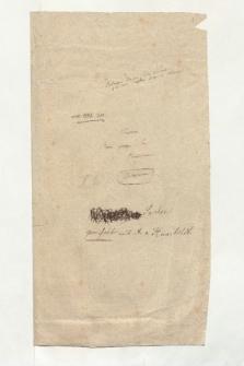 "Umschlag mit der Aufschrift ""Nouveau Mém[oire] géogr[aphique] sur l'Amerique"" (Ansetzungssachtitel von Bearbeiter/in)"