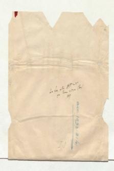 """Umschlag mit der Aufschrift """"Das kleine astr. Heft in 8vo zum Examen critique (Paris) 1847"""" (Ansetzungssachtitel von Bearbeiter/in)"""