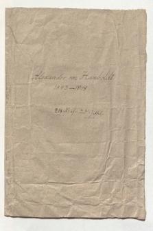 Briefe Alexander von Humboldts an Eduard Buschmann aus den Jahren 1843 - 1848 (Ansetzungssachtitel von Bearbeiter/in)