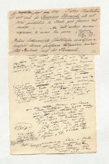 Brief von Unbekannt und Alexander von Humboldt an Alexander von Humboldt